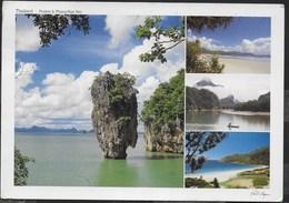 THAILAND - PHUKET & PHANG-NGA BAY - FORMATO GRANDE 17X12 - VIAGGIATA FRANCOBOLLO ASPORTATO - Tailandia