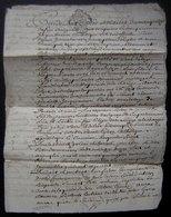 1760 Généralité De Poitiers Mariage De Jacque Manon Avec Anne Delage - Manuscripts