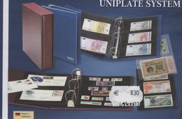 Paquet De 10 Feuilles Transparentes à 2 Bandes Pour Classeur Multicollect Lindner MU 1341 à Moins 50 % - Supplies And Equipment