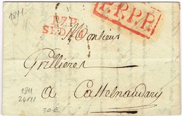 Ar31- P. 7. P. / SEDAN   +  P.P.P.P. Ardennes  1811 - Marcophilie (Lettres)