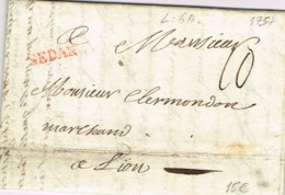Ar31-   SEDAN   Ardennes  1757  Lenain N°6a - Storia Postale