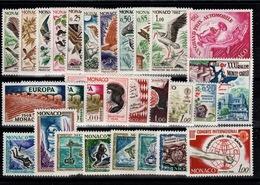 Monaco - Annee Complete 1962 N** YV 571 à 598 Cote 37 Euros - Monaco