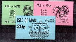 Carnet De Man N ºYvert 137-167-169 (**) - Isla De Man