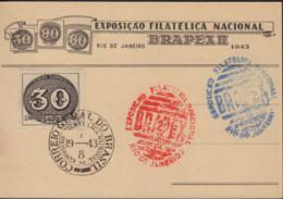 Ref. 577502 * NEW *  - BRAZIL . 1943. 100th ANNIVERSARY OF BRAZIL STAMP. 100 ANIVERSARIO DEL SELLO BRASILE�O - Neufs