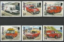 Jersey 2006 Yvertn° 1302-1307 *** MNH Cote 14,50 Euro Histoire Postale Véhicules - Jersey