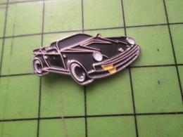 1010 Pin's Pins / Beau Et Rare / THEME AUTOMOBILES : PORSCHE NOIRE CABRIOLET DECAPOTABLE - Porsche