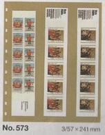 Paquet De 10 Feuilles Transparentes Avec Intercallaires à 3 Bandes Verticales Pour Carnets SAFE Réf. 573 à Moins 50 % - Albums & Reliures