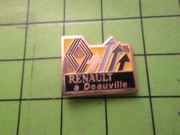 1010 Pin's Pins / Beau Et Rare / THEME AUTOMOBILES : GARAGE RENAULT A DEAUVILLE - Renault