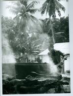 Photo Bénin. Région De Zagnanado Cuisson Des Noix Pour L'huile De Palme 1980. Photo Du Père Gust Beeckmans. - Afrique