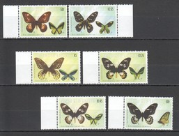 U583 PAPUA NEW GUINEA FAUNA INSECTS BUTTERFLIES #955-60 !!! MICHEL 11 EURO !!! 1SET MNH - Papillons