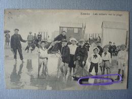 KNOKKE : Les Enfants Sur La Plage  En 1911 - Knokke