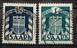 Saarland 1949, Michel# D 35 + 40 O - Französische Zone