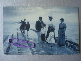 KNOKKE : Sur Le Brise Lame  En 1909 - Knokke