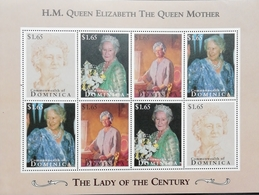 Dominica 1995 Queen Mother,95th. Birthday - Dominica (1978-...)