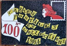 LAURENT LE BRIS CURIOSOTE SERIE LES 100 AMIS DE CPC N° 100 MARIANNE SORT DU TIMBRE - Bolsas Y Salón Para Coleccionistas