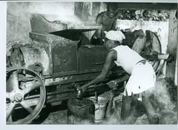 Photo Bénin. Zagnado, Presse Mécanique Pour écraser Les Noix De Palmier  1980. Photo Du Père Gust Beeckmans. - Afrique
