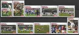 2004 BENIN 10 Timbres Football, Non Officiel - Fantasy Labels
