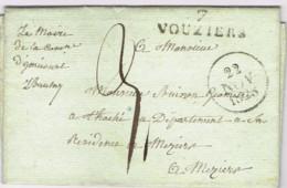 """Ar33-  7. / VOUZIERS""""   1828  Vouziers  Ardennes Le Maire De La Commune De Gnicourt - 1801-1848: Precursors XIX"""