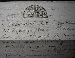 Deux Sèvres Vendémiaire L'An 6, Vente Gaffichon, Joli Cachet - Manuscripts