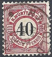 Württemberg, 1900 Cypher 40pf # Michel 62 - Scott 65 - Yvert 54 USED - Wuerttemberg