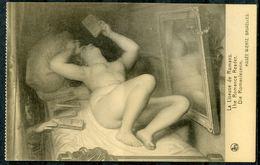 "CPA S/w  Künstlerkarte Belgien Musee Wiertz Bruxelles""Die Romanleserin,The Romance Reader ""1 AK Blanco - Museen"
