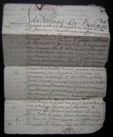1753 Généralité De Poitiers, Donation Entre Vifs Faite Par Marie Menon à René Delage, Paroisse De La Charière - Manuscripts
