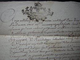1720 Généralité De Poitiers, Acquet Pour René Delage, Voir Photos Pour Le Détail - Manuscripts