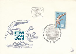 DC-1402 - FDC 1974 AUSTRIA - SWIMMING DIVING WATERPOLO - Swimming