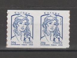 FRANCE / 2013 / Y&T N° AA 852a ** : Ciappa TVP LP Europe 20g (issu De Carnet Adhésif De 12 TP) X 2 - état D'origine - Frankreich