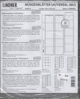 Paquet De 5 Feuilles Transparentes Avec Intercallaires Noirs Pour Monnaies Lindner MU15 Pour 15 Pièces Diam. 42 Mm - Matériel
