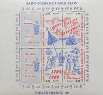 St. Pierre & Miquelon 1989 French Revolution,Bicent. SS/S - St.Pierre & Miquelon