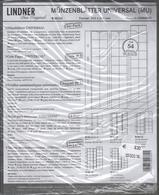 Paquet De 5 Feuilles Transparentes Intercallaires Noirs Pour Monnaies Lindner MU54 Pour 54 Pièces Diam. 20 Mm à   - 50 % - Supplies And Equipment