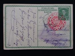 AUSTRIA - Cartolina Postale Commemorativa - Viaggiata Nel 1908 + Spese Postali - Storia Postale