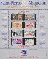 """St Pierre & Miqueion 1999 PhilexFrance """"99, World Philatelic Exhibition Sheet Of 4 - St.Pierre & Miquelon"""