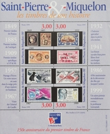 "St Pierre & Miqueion 1999 PhilexFrance ""99, World Philatelic Exhibition Sheet Of 4 - Unused Stamps"