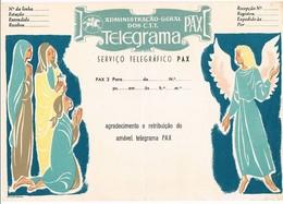 Portugal, Telegrama Pax 3, Não Circulado - Télégraphes