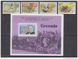Grenada 1979 Sir Rowland Hill 4v + M/s ** Mnh (41295) - Grenada (1974-...)