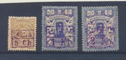 PERSIA Kingdom - IRAN  1897  Yvert 85/7 MH Avec Charnières - Iran