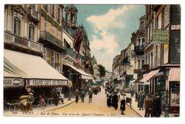 CPA Vichy 03 Allier Rue De Nimes Vue Prise Des Quatre Chemins Grand Café De France Garage De Paris éditeur LL N°100 - Vichy