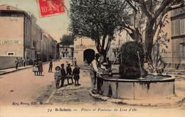CPA SAINT - ZACHARIE - Place Et Fontaine Du Lion D'Or - Saint-Zacharie