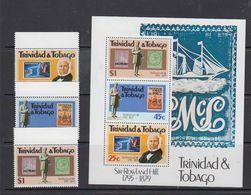 Trinidad & Tobago 1979 Sir Rowland Hill 3v + M/s ** Mnh (41295A) - Trinidad En Tobago (1962-...)