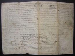 Parchemin De 1776 Généralité De Poitiers Concernant Une Vente Des Frères Gandelain à Pierre Michaud - Manuscripts
