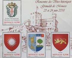 Monako Monaco 2018 Block 126 Historische Sitze Der Familie Grimaldi - Monaco