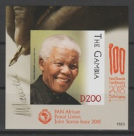 Gambie Gambia 2018 Mi. ? IMPERF ND S/S Joint Issue PAN African Postal Union Nelson Mandela Madiba 100 Years - Gambie (1965-...)
