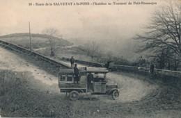 H192 - 34 - Route De Salvetat à Saint-Pons - Hérault - L'autobus Au Tournant Du Petit-Rieumajou - Autres Communes