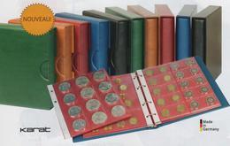 Paquet De 5 Feuilles Transparentes Avec Intercallaires Rouges Pour Pour Album Karat Lindner Pour 12 Pièces 48mm à - 50 % - Matériel
