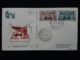 TRIESTE A - F.D.C. Marco Polo + Spese Postali - 7. Trieste