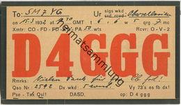 QSL - QTH - D4GGG - 1932 - Amateurfunk