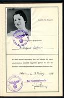 Ahnenpass Dt.Reich-Österreich, Frau, 18.3.1940, Wien-Hadersdorf, Arier-Nachweis....TOP,TOP - Historical Documents