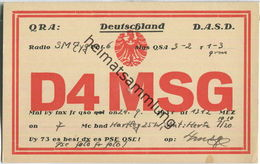QSL - QTH - D4MSG - 1931 - Amateurfunk